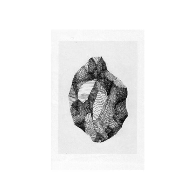art work sketch raw diamond